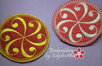 SWIRL COASTER - 2 VERSIONS INCLUDED- IN THE HOOP MACHINE EMBROIDERY - Embroidery by EdytheAnne - 3