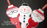 SET OF 3 IN THE HOOP CHRISTMAS ORNAMENTS -Instant Download - Embroidery by EdytheAnne - 3