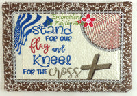 STAND FOR THE FLAG Mug Mat/Mug Rug - 2 Sizes Included - DIGITAL DOWNLOAD