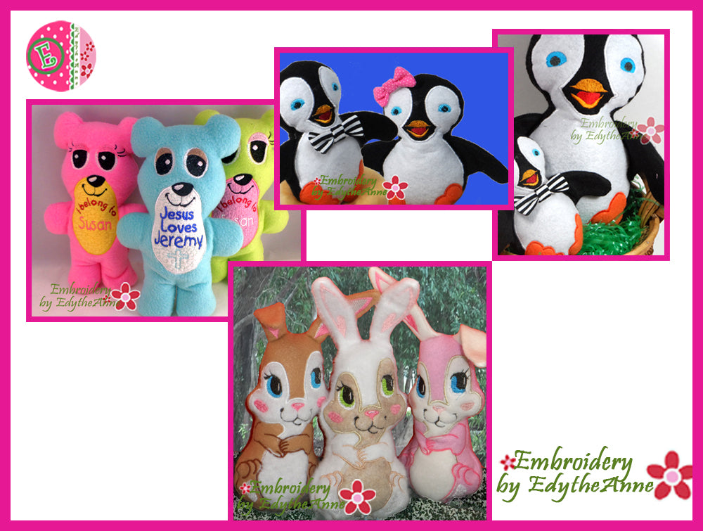 STUFFIES BUNDLE All In The Hoop Save on Bundle- Digital Downloads