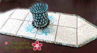 GRACEFULLY ELEGANT TABLE RUNNER & TRIVET SET - Digital Download