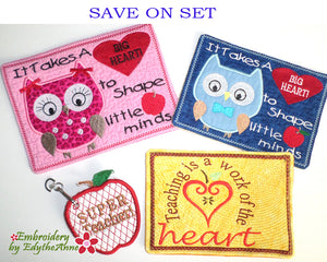 TEACHER APPRECIATION SET In The Hoop Set- Save on Set-Digital Downloads