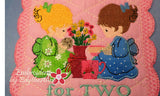 TEA FOR TWO MUG MAT Available in two sizes. INSTANT DOWNLOAD - Embroidery by EdytheAnne - 3