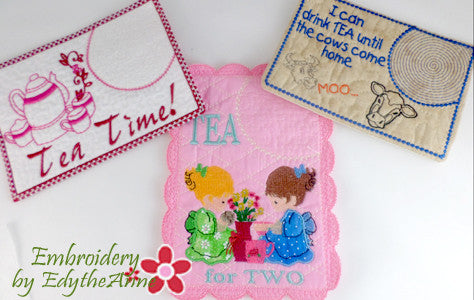 SAVE 10% OFF TEA TIME MUG MAT ASSORTMENT- Digital Downloads