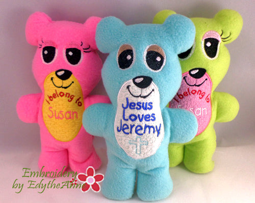 2098a3b0fb9 TEDDY BEAR STUFFIES Completely done In The Hoop Machine Embroidery ...