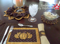 THANKSGIVING TABLE 5 Piece Set - In The Hoop Machine Embroidery