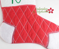 MONOGRAM CHRISTMAS STOCKINGS In The Hoop Set 2- Digital Download -