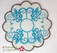OH SO GRACEFULLY ELEGANT TABLE SETTING Machine Embroidery In The Hoop