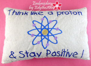 Stay Positive Pillow by Edythenne
