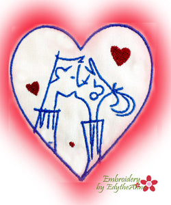VALENTINE -MACHINE EMBROIDERY DESIGN - DIGITAL DOWNLOAD