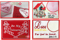 VALENTINE MUG MAT/MUG RUG BUNDLE - Save 10% on Bundle- Digital Downloads