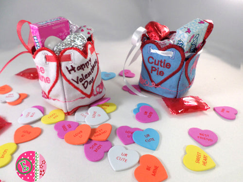 VALENTINE BOXES Plus Optional SVG files- Machine Embroidery Design  In The Hoop Projects