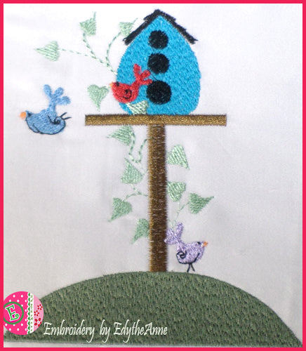 WHIMSEY BIRDS Machine Embroidery Design - Digital Download