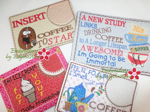 WHIMSICAL MUG MATS - SET OF 4 - Save 10% on Bundle- Digital Downloads