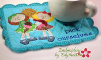 FRIENDS MUG MATS Available in two sizes. INSTANT DOWNLOAD NOW - Embroidery by EdytheAnne - 4