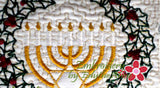 HAPPY HANUKKAH/CHANUKAH/HOLIDAY MUG MATS/Mug Rugs  - Instant Download. - Embroidery by EdytheAnne - 2