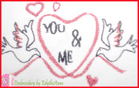 YOU AND ME Machine Embroidery Design - Digital Download