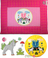 UNICORN STORY BOOK SET - In The Hoop Machine Embroidery Design.  - DIGITAL DOWNLOAD