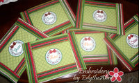 WORDS OF CHRISTMAS PLACE MAT SET  In The Hoop - INSTANT DOWNLOAD - Embroidery by EdytheAnne - 3