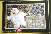 LET IT SNOW...LET IT SNOW...MUG MAT/MUG RUG In The Hoop Embroidery Design - Embroidery by EdytheAnne - 2