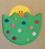 HATCHING EASTER CHICK APPLIQUE  - Machine Embroidery Design - Digital Download