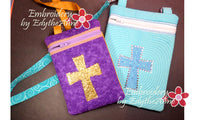 IN THE HOOP BAG WITH Embroidered Cross - INSTANT DOWNLOAD - Embroidery by EdytheAnne - 2