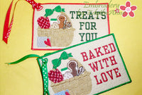 TREATS FOR YOU In The Hoop CHRISTMAS GIFT TAGS Embroidered Design - Instant Download - Embroidery by EdytheAnne - 2