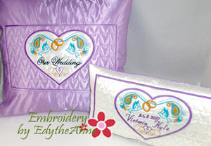 Two Machine embroidery pillow designs