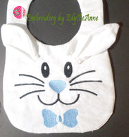 BUNNY BIB In The Hoop Machine Embroidery - Matches our Bunny Slippers -Digital Download