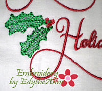 HAPPY HOLIDAYS with Mylar Film  Machine Embroidery Design - Digital Download