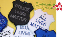 BLUE LIVES MATTER KEY FOBS - 6 designs -  INSTANT DOWNLOAD - Embroidery by EdytheAnne - 3