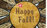 HAPPY FALL TABLE TOPPER In The Hoop Project -INSTANT DOWNLOAD - Embroidery by EdytheAnne - 4