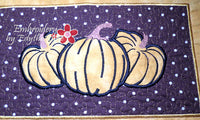 FALL/THANKSGIVING PLACE MAT  In The Hoop - Embroidery by EdytheAnne - 4