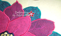 POINSETTIA CENTERPIECE or TRIVET  In The Hoop Project -INSTANT DOWNLOAD - Embroidery by EdytheAnne - 4