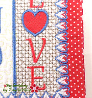 SEASONED WITH LOVE...In The Hoop Embroidered Mug Mat/Mug Rug Design.- Digital Download