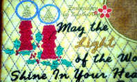 LIGHT OF THE WORLD MUG MAT/MUG RUG In The Hoop Embroidery Design - Embroidery by EdytheAnne - 3
