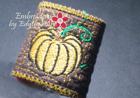 FALL/THANKSGIVING NAPKIN RING In The Hoop - Instant Download - Embroidery by EdytheAnne - 3