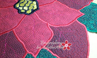 POINSETTIA CENTERPIECE or TRIVET  In The Hoop Project -INSTANT DOWNLOAD - Embroidery by EdytheAnne - 3