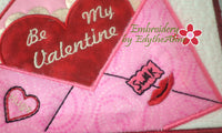 BE MY VALENTINE In The Hoop Embroidered Mug Mats/Mug Rugs - Instant Download - Embroidery by EdytheAnne - 4