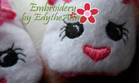 Infant BUNNY SLIPPER. In The Hoop Machine Embroidery. 3 sizes included.  - INSTANT DOWNLOAD - Embroidery by EdytheAnne - 4