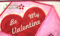 BE MY VALENTINE In The Hoop Embroidered Mug Mats/Mug Rugs - Instant Download - Embroidery by EdytheAnne - 3