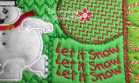 LET IT SNOW...LET IT SNOW...MUG MAT/MUG RUG In The Hoop Embroidery Design - Embroidery by EdytheAnne - 5