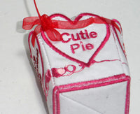 VALENTINE BOX showing cutie pie finished side - Machine Embroidery Designs - In the hoop embroidery project - by EdytheAnne - 6