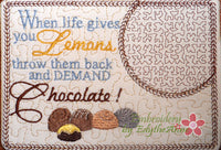 CHOCOLATE MUG MATS -Set of Two In The Hoop Mug Mats -Instant Download - Embroidery by EdytheAnne - 3