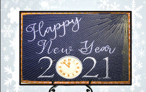 2021 HAPPY NEW YEAR In The Hoop Mug Mat/Mug Rug -DIGITAL DOWNLOAD
