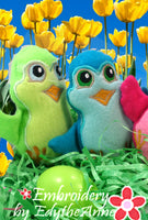 COLORIZE YOUR EASTER CHICKS  In The Hoop Machine Embroidery - Digital Download