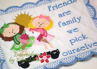 FRIENDS MUG MATS Available in two sizes. INSTANT DOWNLOAD NOW - Embroidery by EdytheAnne - 2