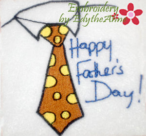 HAPPY FATHER'S DAY -Machine Embroidery Design - Digital Download
