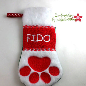 PET CHRISTMAS STOCKINGS - In The Hoop - Digital Download