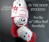THE OFFICE STAFF SNOWBALLS...Machine Embroidered Ten  different faces shaped into snowballs. INSTANT DOWNLOAD - Embroidery by EdytheAnne - 3